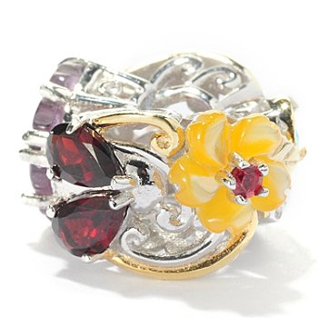 127-908 - Gems en Vogue II 1.56ctw Multi Gemstone Garden Slide-on Charm