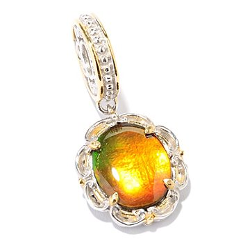 127-909 - Gems en Vogue II 12 x 10mm Ammolite Triplet Drop Charm