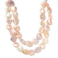"SS 24"" 13-16mm PINK KESHI FWP NESTED NECKLACE"