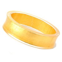 ORO PURO 20MM CONCAVE BANGLE