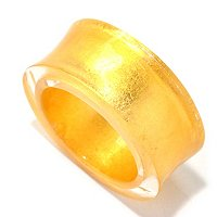 ORO PURO 9MM CONCAVE RING