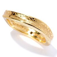 14K ORO VITA ELECTROFORM MINI-WAVE RING