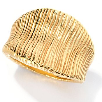 128-006 - Italian Designs with Stefano 14K ''Oro Vita'' Electroform Glamour Ring