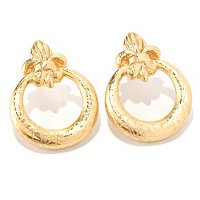 14K ORO VITA ELECTROFORM FLORENCE LILY EARRINGS