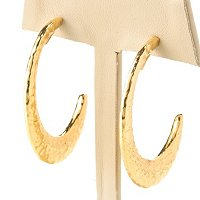 14K ORO VITA ELECTROFORM J-HOOP EARRINGS