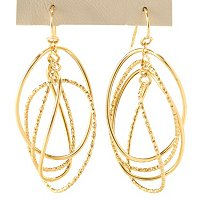 14K ORO BREEZE DANGLE CIRCLES EARRINGS