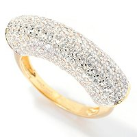 SB SS/CHOICE ROUND CUT PAVE BAR RING