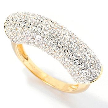 128-027 - Sonia Bitton for Brilliante® 1.75 DEW Round Cut Pave Bar Ring