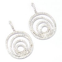 SB SS/CHOICE ROUND CUT MULTI-CIRCLE DROP EARRINGS