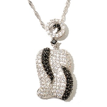 128-032 - Gem Treasures Sterling Silver 3.21ctw White Zircon & Spinel Pendant w/ Chain