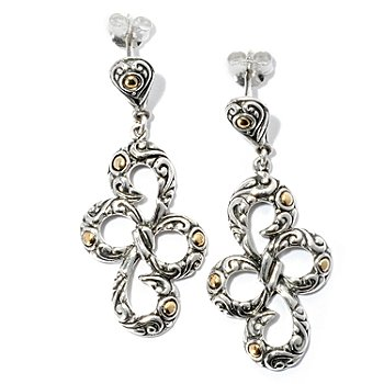 128-063 - Artisan Silver by Samuel B. Bow Dangle Earrings