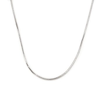 128-108 - Palatino™ Platinum Embraced™ 22'' Polished Venetian Box Chain Necklace