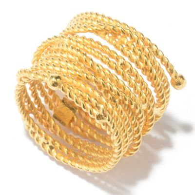 128-118 - Portofino Gold Embraced™ Rope Textured Wrap-Around Ring