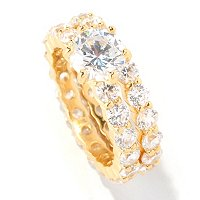 BRIL SS/CHOICE ROUND CUT ETERNITY RING SET