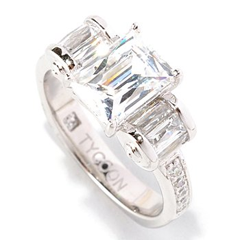 128-146 - TYCOON for Brilliante® 2.52 DEW Polished Tycoon Cut Ring w/ Roundel Sides