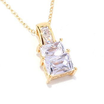 "128-153 -  TYCOON for Brilliante® 1.59 DEW Polished Rectangular Cut Pendant w/ 18"" Chain"
