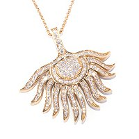 "SB SS/CHOICE FEATHER PENDANT W/ 18"" CHAIN"