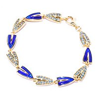 SS/18KV BRAC ROYAL BLUE ENAMEL & GEM