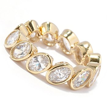 128-205 - Sonia Bitton for Brilliante® 5.16 DEW Oval Cut Dream Fit™ Eternity Ring