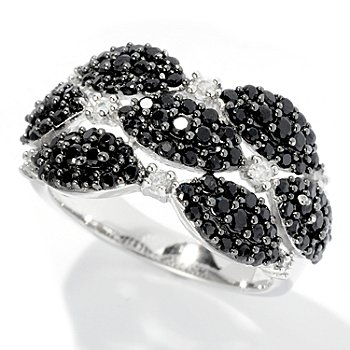 128-221 - Gem Treasures Sterling Silver 1.39ctw Spinel & White Zircon Marquise Ring