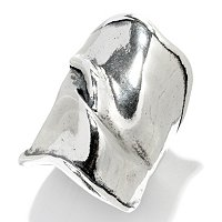 SS MEDITERRANEAN WAVE WIDE BAND RING