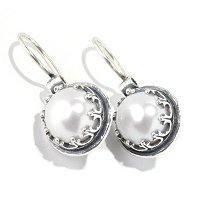 SS PEARL DROP EARRINGS