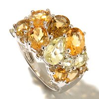 SS MULTI SHAPE AND COLOR GEMSTONE RING SHADES OF YELLOW