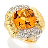 SS/P RING CITRINE & WHITE SAPH