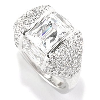 128-307 - TYCOON for Brilliante® Platinum Embraced™ 6.24 DEW Pave Set Angular Fancy Ring