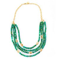 "MARIECHAVEZ 16"" + 2"" EXT CASCADING BEAD NECKLACE"