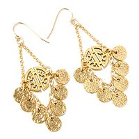 MARIECHAVEZ DISC DANGLE EARRINGS W/CUT OUT CENTER