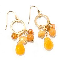 MARIECHAVEZ MULTI STONE DANGLE EARRINGS