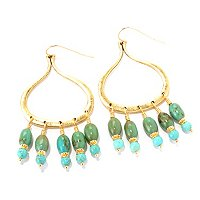 MARIECHAVEZ TURQUOISE CHANDALIER EARRINGS