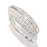 SB SS/CHOICE PAVE GEOMETRIC RING W/ EURO SHANK