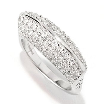 128-356 - Sonia Bitton for Brilliante® 3.18 Pave Geometric Euro Shank Ring