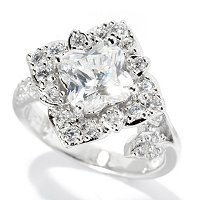 BLTA SS/PLAT FLOWER CUT RING