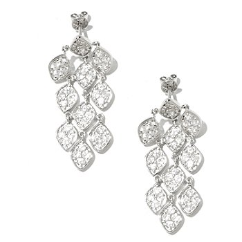 128-384 - NYC II 4.24ctw White Zircon Chandelier Earrings