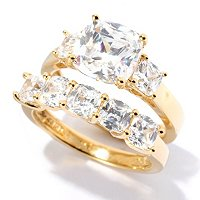 BLTA SS/CHOICE CUSHION CUT TWO PIECE RING SET