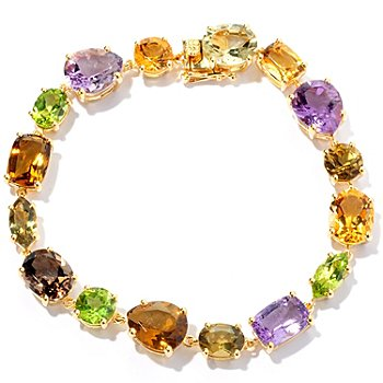 128-447 - NYC II Multi Gemstone Mixed Shape Tennis Bracelet