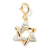 SS/P CHARM WHITE ZIRCON STAR OF DAVID