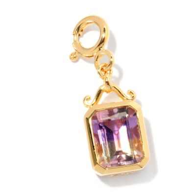 128-453 - NYC II 1.60ctw Emerald Cut Ametrine Drop Charm