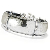 SS HAMMERED HINGED BANGLE BRACELET