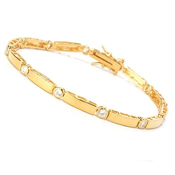 128-466 - Brilliante® Polished Round Bezel Set Line Bracelet