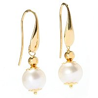 18K PEARL DANGLE EARRINGS
