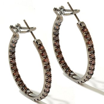 128-512 - Dare to Rare™ by Lucy 1.25'' 3.68 DEW Round Simulated Diamond Inside-Out Hoop Earrings