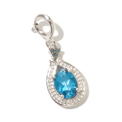 128-517 - NYC II 1.22ctw London Blue Topaz & Blue Diamond Drop Charm