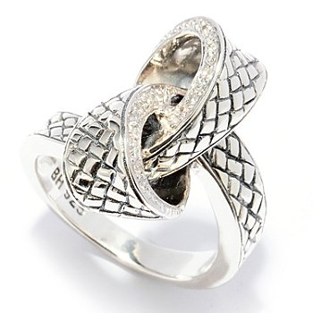 128-528 - Sterling Artistry by EFFY 0.12ctw Diamond Bow Ring