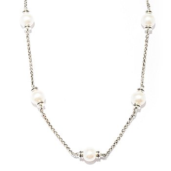 128-532 - Sterling Artistry by EFFY 19-3/4'' Cultured Freshwater Pearl Station Necklace