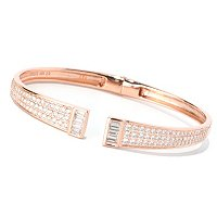 CL SS/CHOICE PAVE AND BAGUETTE CUFF BANGLE BRACELET