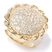 SB SS/CHOICE ROUND PAVE INTERWINED BORDER RING